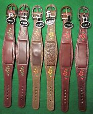 VTG 70's NOS Hippie Wide Ladies Leather Watch Band CHOICE Flower Buckle Color