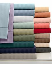 "1000TC Luxury Sheet Set Stripe Choose Size & Color 100% Cotton Fit Up To24""Deep"