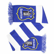 Everton FC Official Knitted Football/Soccer Bar Supporter Scarf