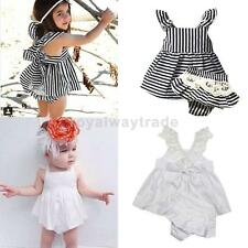 Lace Cotton Summer Strappy Toddler Girl Dress Kids Party Princess Pageant Dress