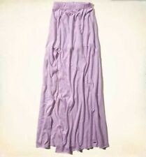 NWT HOLLISTER BY ABERCROMBIE WOMEN'S LARGE ORMOND BEACH LONG MAXI SKIRT PURPLE L