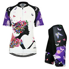Women Cycling Ride Short Sleeves Pants Quick Dry Jersey MTB Bike Bicycle Sets