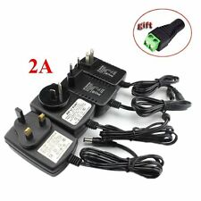 12V DC 2A Power Supply Adapter Charger Transformer Plug For CCTV LED Light Strip