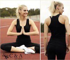 New Ladies Womens Girls Sports Casual Gym Action Back Cotton Jersey Knit Singlet