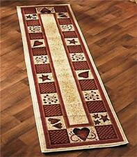 DECORATIVE HEARTS AND BERRIES RUNNER OR ACCENT RUG OLEFIN W/JUTE BACKING