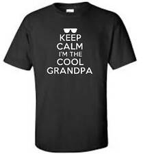 Keep Calm I'm The Cool Grandpa T-Shirt Funny Humor Grandfather PaPa Mens Tee