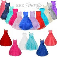 Flower Girl Princess Dress Kid Party Pageant Wedding Bridesmaid Gown Dresses