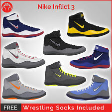 Brand New Nike Inflict 3 Wrestling Shoes With Free Wrestling Socks