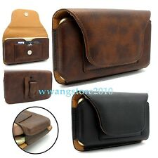 Premium Leather Card Slot Multi-function Belt Clip Bag Case Cover for Cell Phone