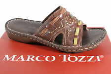 Marco Tozzi Mules, brown, soft leather insole NEW