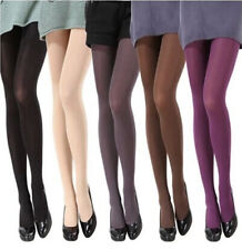 Sexy Womens Opaque Socks Tights Elastic Pantyhose Candy Color Bright Footed Slim