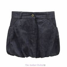 NEW WOMENS LADIES DENIM BLUE SUMMER BAGGY MINI SHORT SKIRT SHORTS JEANS