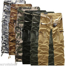NEW Men's Military Army Cargo Camo Combat Work Pants Camouflage Casual Trousers