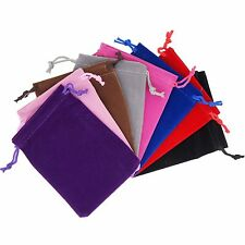 Pack of 12 Various Color Various Size Soft Velvet Pouches Gift Jewelry Bags