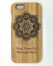 """Personalised Engraved Mandala design Wooden bamboo iphone 6 4.7"""" Case,Cover"""