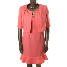 Nipon Boutique Pink Shimmer Lined 2PC Dress With Jacket Set Size 4 &16 - NEW