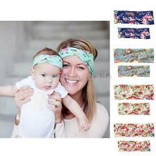 Mommy and Me Toddler Baby Girls Flower Headband Hair Band Women Turban Headwear