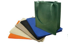 "50 PACK Recycled Reusable Eco Friendly Grocery Shopping Tote Bag 13x15x6"" Gusset"