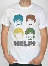 T-shirt Beatles Help,T-shirt white with drawing stencil