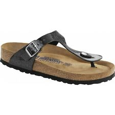 Birkenstock 847441 GIZEH Ladies Womens Galaxy Glitter Toe Post Sandals Black