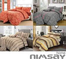 NIMSAY Duvet Cover with Pillow Case Quilt Cover Bedding Set Single Double & King