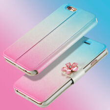 Luxury PU Leather Magnetic Flip Stand Bling Wallet Cover Case For Various Phone