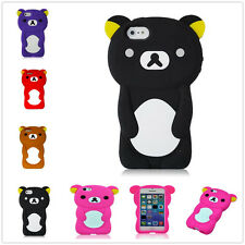 Cute 3D Teddy Bear Animal Soft Silicone Skin Case Cover For Apple iPhone 5 5S 5G