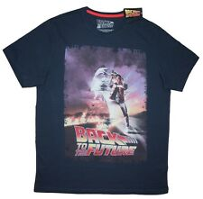 Back to the Future -Distressed aged effect Film Poster - Men's - Unisex T Shirts