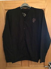 MAHARISHI MHI MENS BLACK SWEAT CARDIGAN WITH MAHARISHI LOGO!!!