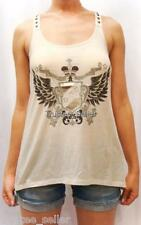 NWT Juicy Couture Fashion Crest Wings Logo Print Racer Back Tank Top Shirt Tee