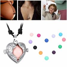 Angel Wing Locket Pendant Pregnant Necklace With Colorful Harmony Sound Ball