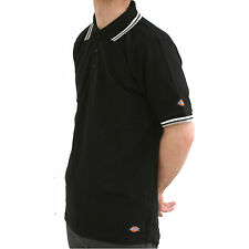 MENS DICKIES RIVERTON BLACK POLO SHIRT SIZES SMALL - XXX LARGE SH2001