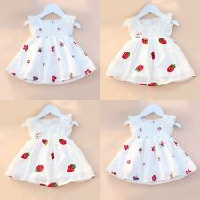 Toddler Kids Baby Girls Summer Lace Dress Princess Party Pageant Tutu Dresses