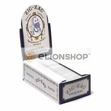 Cigarette Rolling Papers ( Zig Zag White Single Wide 1.0 ) Made In France Z