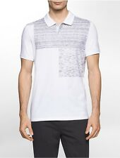 calvin klein mens slim fit heathered block polo shirt
