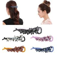 Women Plastic Flower Banana Barrette Hair Clip Hair Pin Claw Hair Accessories