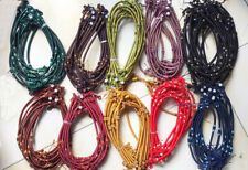 silk thread knot cord hand-knotted pendant necklace jade beads 5MM  USA BY EUB