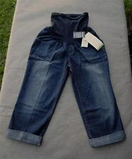 NWT $50 Oh Baby Motherhood Secret Fit Belly Maternity Capri Cuffed Jeans Size S