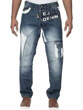Mens Eto Jeans Designer Regular Tapered Fit Stylish Funky Trendy Denim Pants
