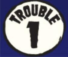 Trouble 1  2 OR 3 Unisex Tee Sizes 2-4=XS To 14-16=LG NWOTS Colors red or blue
