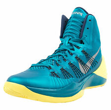 NIKE HYPERDUNK 2013 BASKETBALL SHOES TROPICAL TEAL NAVY SONIC YELLOW 599537 300
