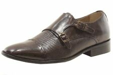 Giorgio Brutini Men's Jotham 249062 Brown Leather Monk-Strap Loafers Shoes