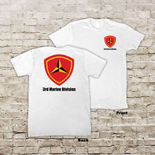 US 3rd Marines Division USMC Marine Corp WWIII White Or Black T-Shirt