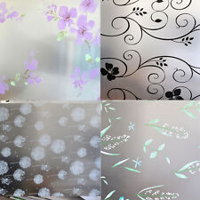 45*200cm Flower Frost Glass Privacy Adhesive Home Window Film Cover Sticker