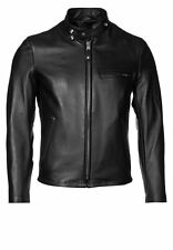 New Mens Leather Jacket Quilted Black Slim fit Biker Motorcycle Size S M L XL