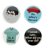 Max Fischer Badge Set! Wes Anderson, Rushmore, Bill Murray, button, saved latin
