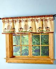 Curtain Tier Valance Kitchen Linens Primitive Country Stars Berries Sheep Willow