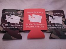 30th Birthday Koozie state WA party favors personalized custom can coolers