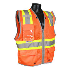 RADIANS SV6HO SAFETY Hi-Viz Class 2 Heavy Duty Two-Tone Surveyor Vest Pack of 4!