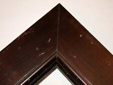 "2.5"" Large Distressed Walnut Solid Wood Picture Frame- Custom Made Standard"